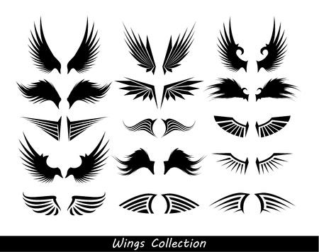 paloma caricatura: las alas de la colección (conjunto de alas)