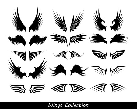tattoo arm: wings collection (set of wings)