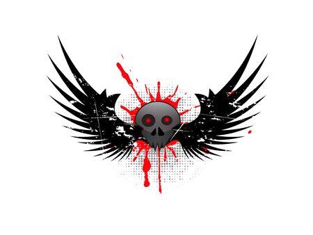 illustration of abstract grunge background illustration