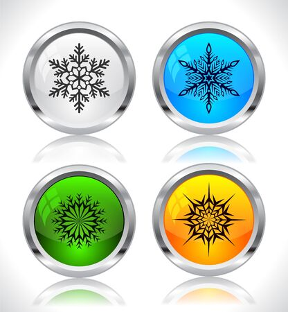 Cool color shiny metal web buttons. Vector illustration. Stock Vector - 16855184