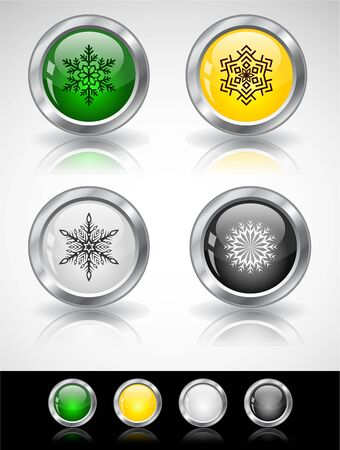 Cool color shiny metal web buttons. Vector illustration. Stock Vector - 16855179