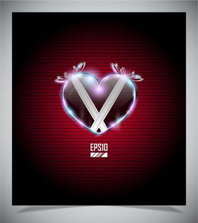 st valentins day: Astratta San Valentino giorno sfondo, illustratione Vettoriali