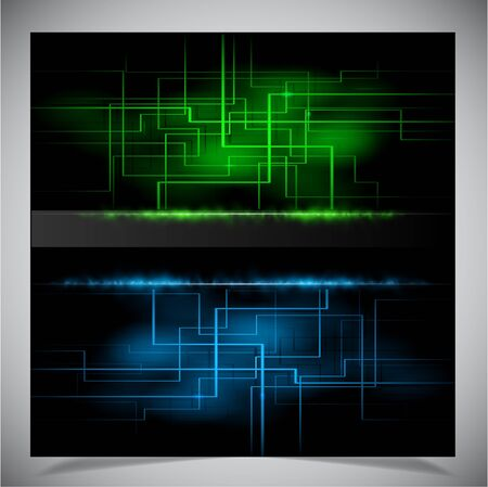 Smooth colorful abstract techno background. Vector illustration Vector