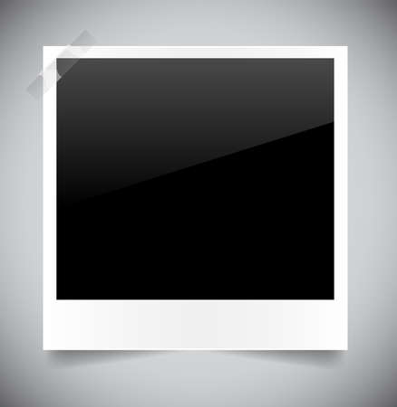 Empty photo on grey background. Vector illustration Vector