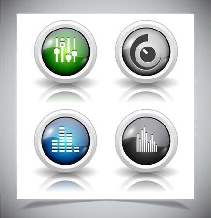 shiny buttons: Cool glass shiny buttons for web.