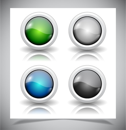 abstract glass buttons. EPS10 file. Stock Vector - 19612616