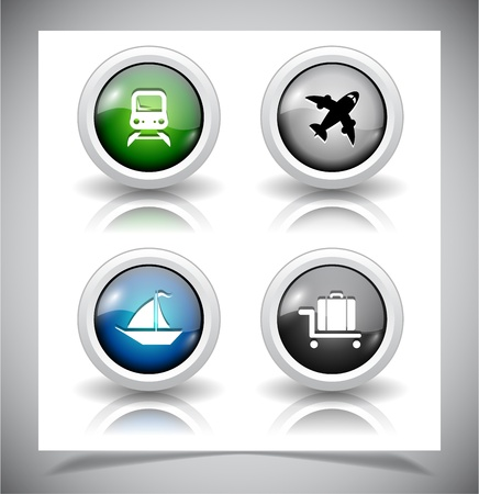 abstract glass buttons. EPS10 file. Vector