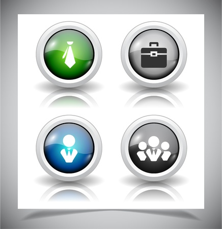 Set of abstract glass buttons.  Vector