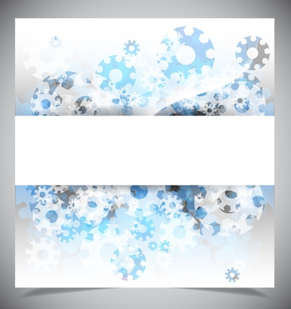 elegantly: Blue and white modern abstract background. Vector illustration