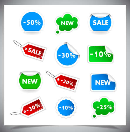 Collection Of Selling Badges and stickers. Vector illustration Vector