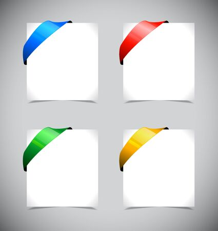 Set of shiny color ribbons. Vector illustration Illustration