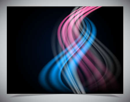 Simple dark abstract wave background. Vector illustration Vector