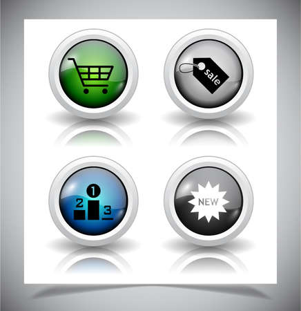 abstract glass buttons. Vector