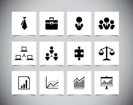 Set of business icons, Vector illustration eps10 Vector