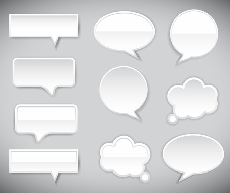 pop-up bubble with shadow on grey background. Vector background.
