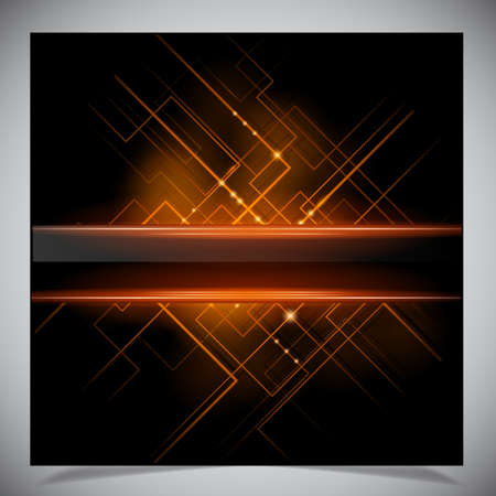 Smooth colorful abstract techno background.  Vector
