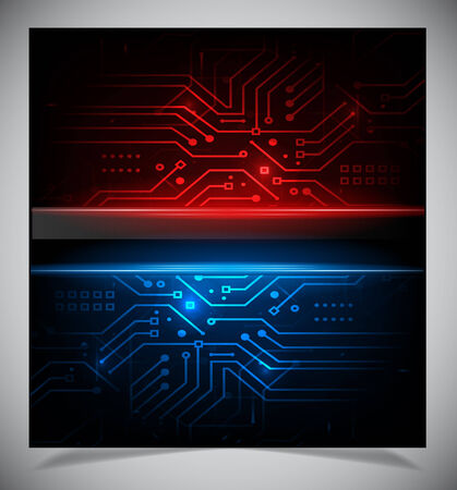 Vector illustration of futuristic abstract glowing background Vector