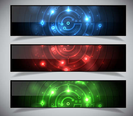 Bright abstract banners collection.  Vector