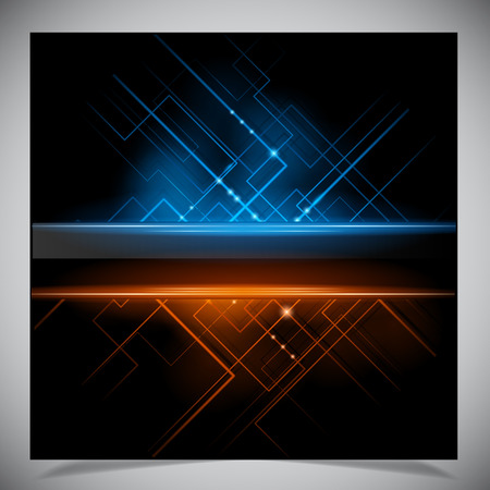 Vector illustration of futuristic abstract glowing background