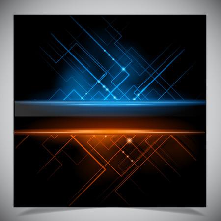 Vector illustratie van futuristische abstracte gloeiende achtergrond Stock Illustratie