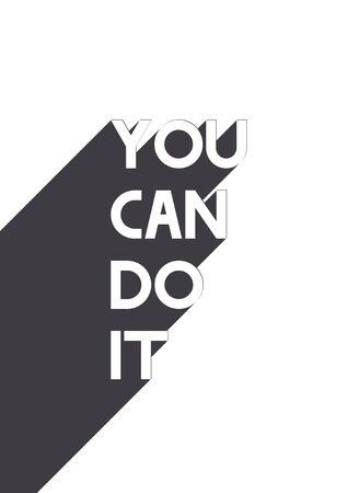 Motivation poster vector design for print EPS10