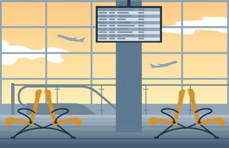 Airport background Stock Vector - 18493819