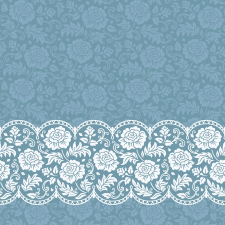 wedding background: Frame with roses and lace