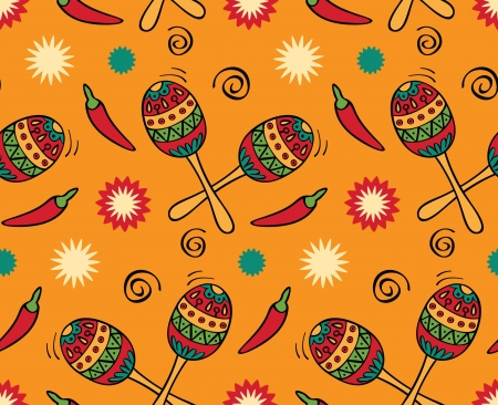 Seamless with mexican festival Vector