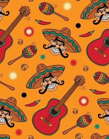 Sin fisuras con fiesta mexicana Ilustración de vector