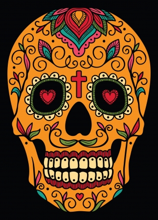 day of the dead: Mexican sugar skull