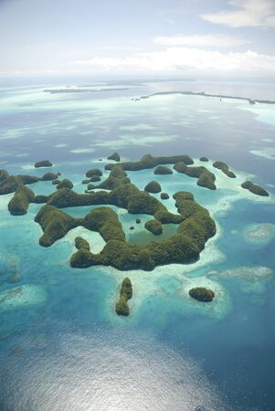 pacífico: Micronesian Islands from the air
