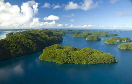 Aerial Shot of Micronesian Islands Stock fotó