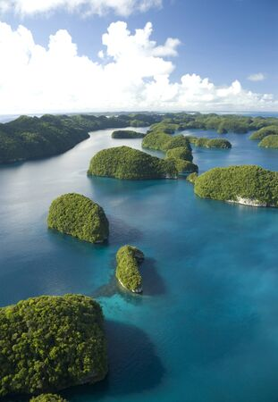 ミクロネシアの島々 の空中ショット