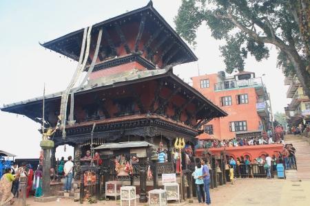 nepali: MANAKAMANA, NEPAL - OCTOBER 6  Nepali faithfuls wait their turn to present their offerings to goddess Bhagwati on October 6, 2012 in the Manakamana Mandir-Nepal