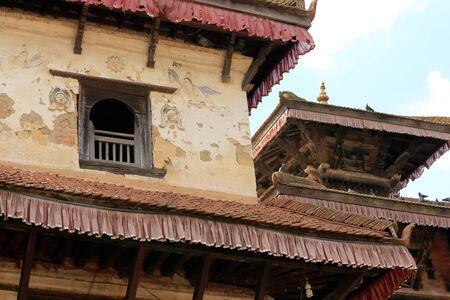 religious service: Hindu temples -Ahylia-Krishna Narayan- in the Tribheni Ghat or Khware shrine area at the Punyamati and Roshi khola-rivers junction. Panauti-Kavrepalanchok dstr.-Bagmati zone-Nepal.