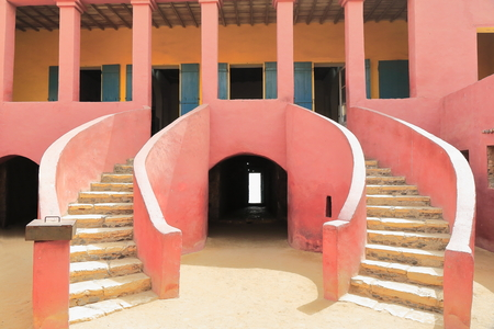The House of Slaves-Maison des Esclaves with its Door of No Return is a memorial to the Atlantic slave trade built c.1776 and reconstructed and opened as a museum on 1962. Goree island-Dakar-Senegal. Editorial