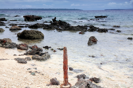 When WW II came to end the US forces dumped and sunk all their refuse equipment at Million Dollar Point where it remains today making it a popular diving spot. Luganville-Espiritu Santo island-Vanuatu