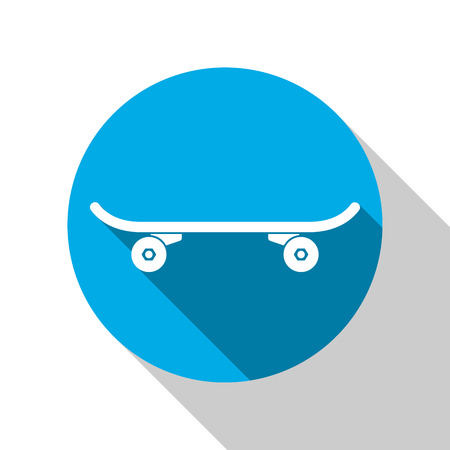 skateboard park: Skate Park icon. Skateboard on the dark background. Illustration
