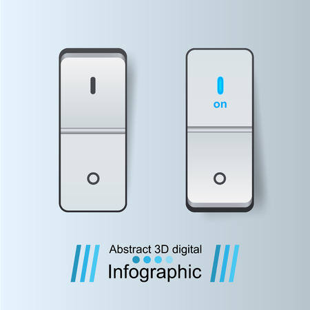 Abstract button icon on the grey background.