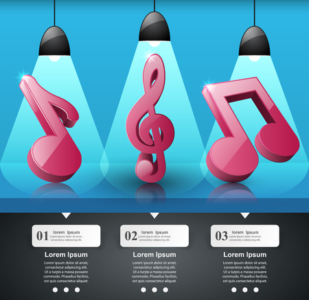 Infographic design template and marketing icons. Note icon. Illustration