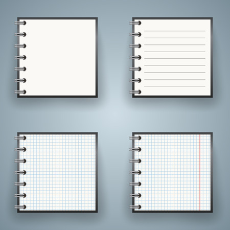 note pad: Notepad, notebok icon with numbet on the grey background