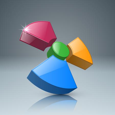 Radiation icon on a black background Illustration