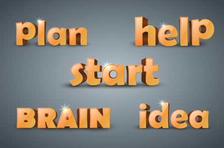initiator: set plan, help, start brain idea - infographic word