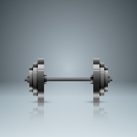 Business illustration are sports in our lives. Barbell icon.