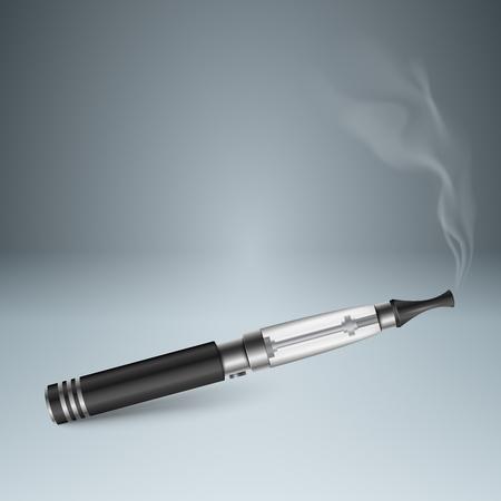 cigaret: Business illustration of a cigarette and harm. Illustration