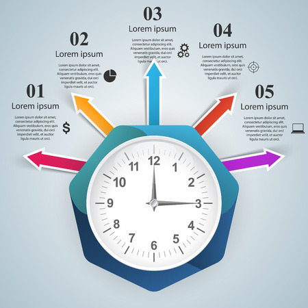 touch screen interface: 3d infographic design template and marketing icons. Smartwatch icon.