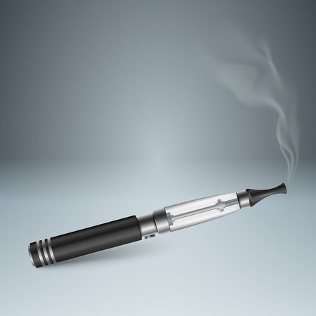 Business illustration of a cigarette and harm. Çizim