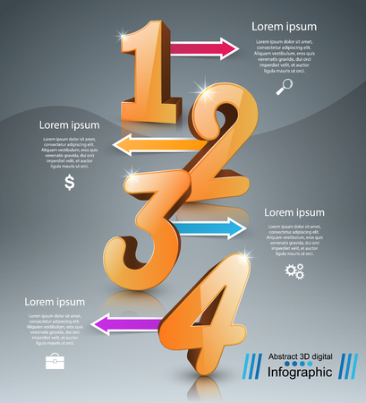 numbers background: Business Infographics origami style Vector illustration.