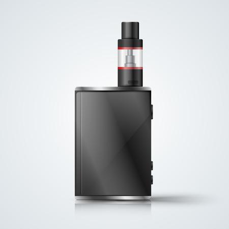 Harmful cigarette, viper, vape smoke Vector eps 10
