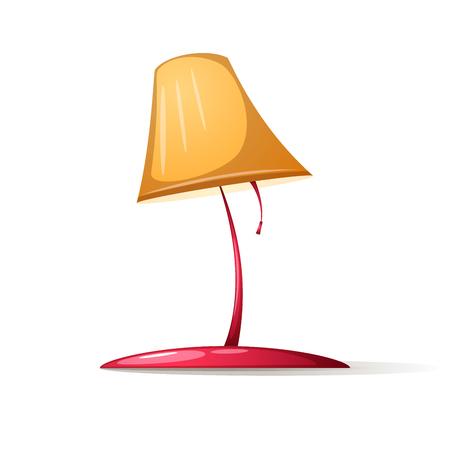 Tafellamp met tafellamp met schaduw en schittering. Vector illustratie.